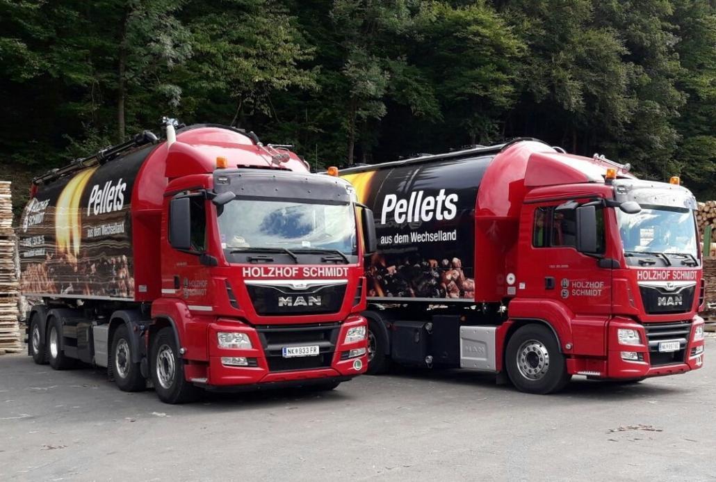 Pellets-LKWs