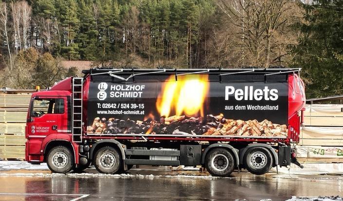 Pellets-LKW